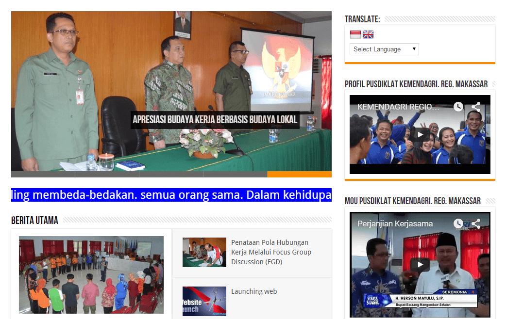 Pusdiklat Kemendagri Regional Makassar