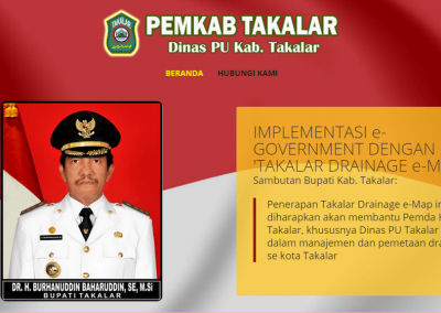 Dinas PU Pemda Takalar. Aplikasi pemetaan posisi drainase Kota Takalar (e-map drainage)