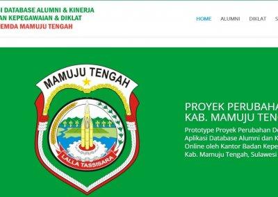 BKD Kab. Mamuju Tengah – Aplikasi Database Alumni Diklat