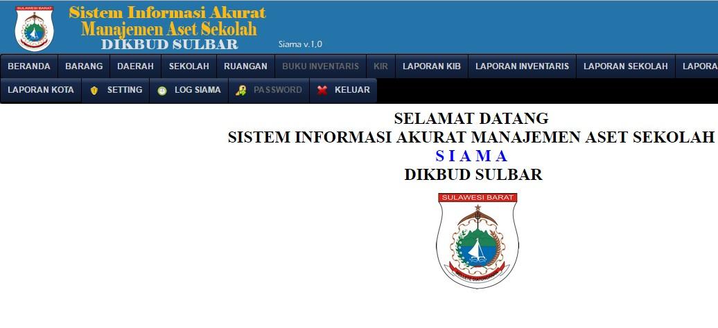 Dinas Pendidikan Provinsi Sulbar – Aplikasi Manajemen Aset Sekolah