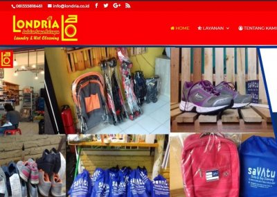 Londria – Website Booking Layanan Laundry