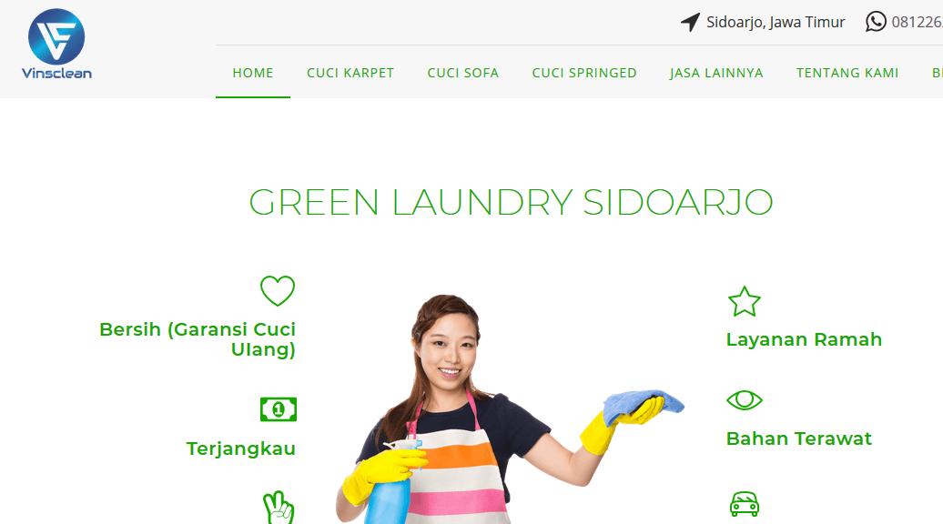 jasa cuci karpet, sofa, springbed- Green Laundry Sidoarjo, Jawa Timur
